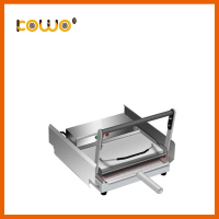 Heavy duty industrial stainless steel kitchen appliance automatic electric hamburger bun toaster making machine