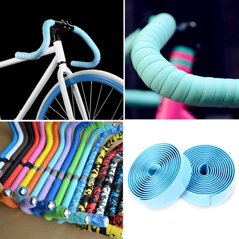 1Pair Bike Silicone Plug Rubber Road Plugs For Bar Tape Strap Silicone Ring kc$T