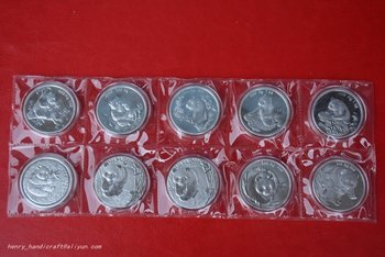 RARE Chinese government-issued United Nations level animal protection,Panda coin,10 pieces/pack,#01,Has a high collection value