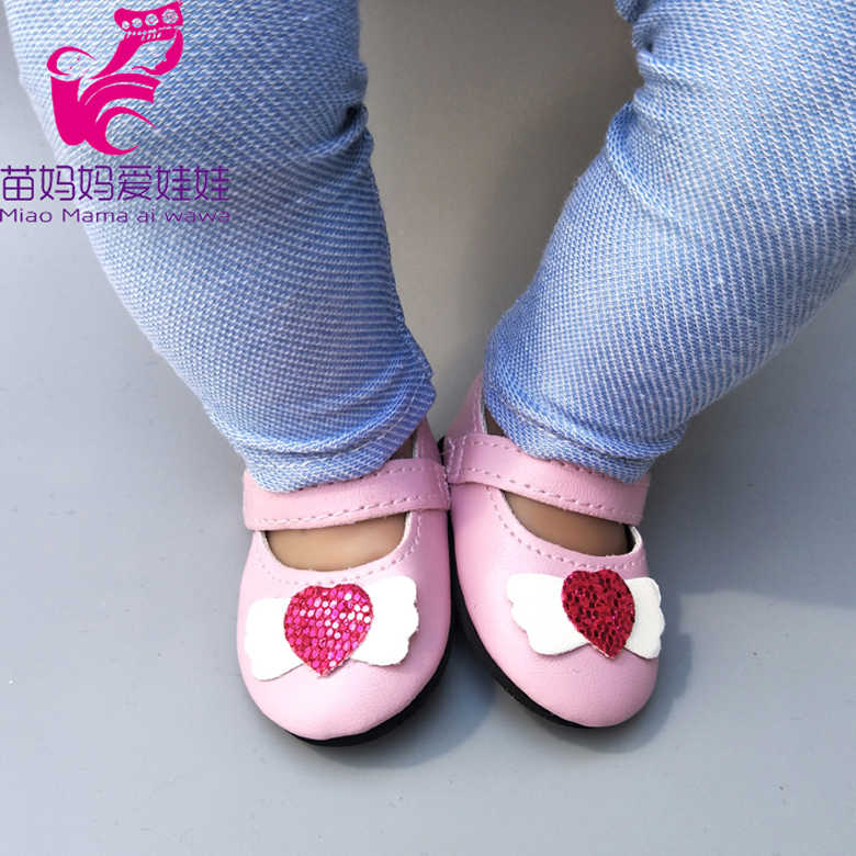 "Doll shoes 18""  Girl Dolls single shoes doll accessories 17"" baby reborn doll pink shoes girl gift toy shoes"