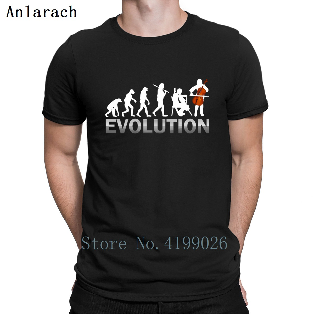 Cello Evolution T Shirt O Neck Fitness Letter The New Mens Streetwear Shirt Quirky Male Sunlight Designing Silly