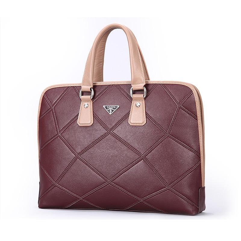 New Men Genuine Leather Briefcase Business Cowhide Leather Brand Handbags Men Messenger Bags Computer Laptop Men's Travel Bags