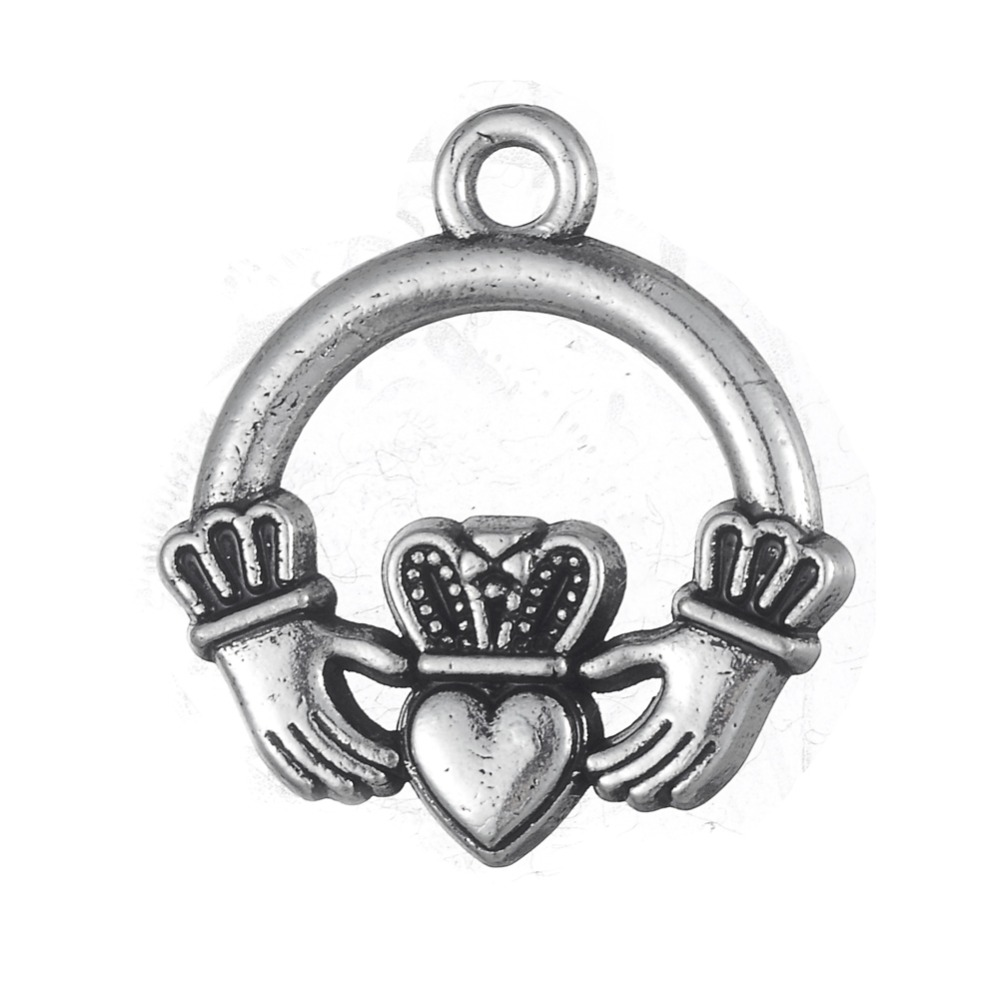 100pcs claddagh antique silver gold charm pendant irish symbol 100pcs claddagh antique silver gold charm pendant irish symbol hands heart crown ireland jewelry in charms from jewelry accessories on aliexpress buycottarizona Choice Image