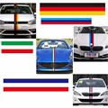 3 Meters/Lot 3 Colors Car Tail Waterproof PVC Sticker Badge Motorcycle Decoration Car Styling German France Italy Flag For BMW
