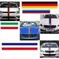 3 Metros/lote 3 Cores Da Cauda Do Carro Emblema Adesivo PVC À Prova D' Água Da Motocicleta Decoração Do Carro Styling França Itália Bandeira Alemão Para BMW
