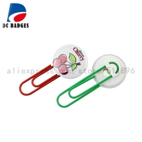 500sets Metal Bookmarks multicolor 25mm Paper clip material without pictures
