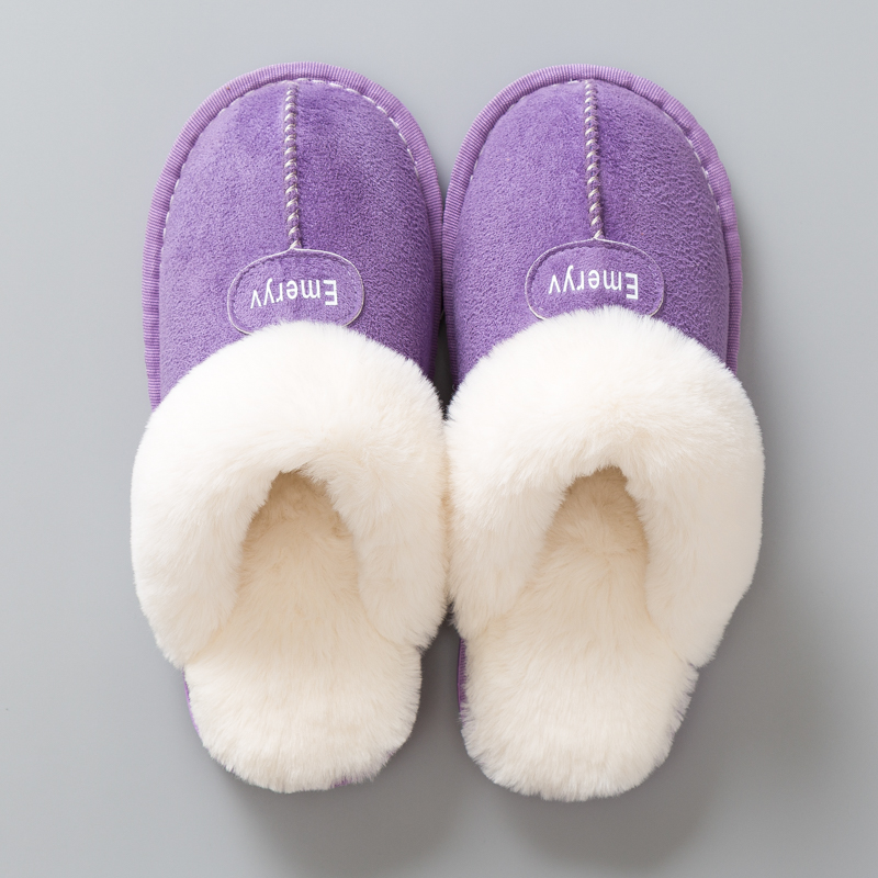 Women House Slippers Plush Winter Warm Shoes Woman Comfort Coral Fleece Memory Foam Slippers House Shoes for Indoor Outdoor Use 4