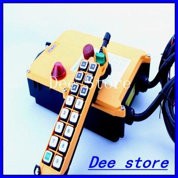 1 velocidad 1 transmisor 15 canales elevador grúa Industrial camión Radio Control remoto botón interruptor sistema controlador