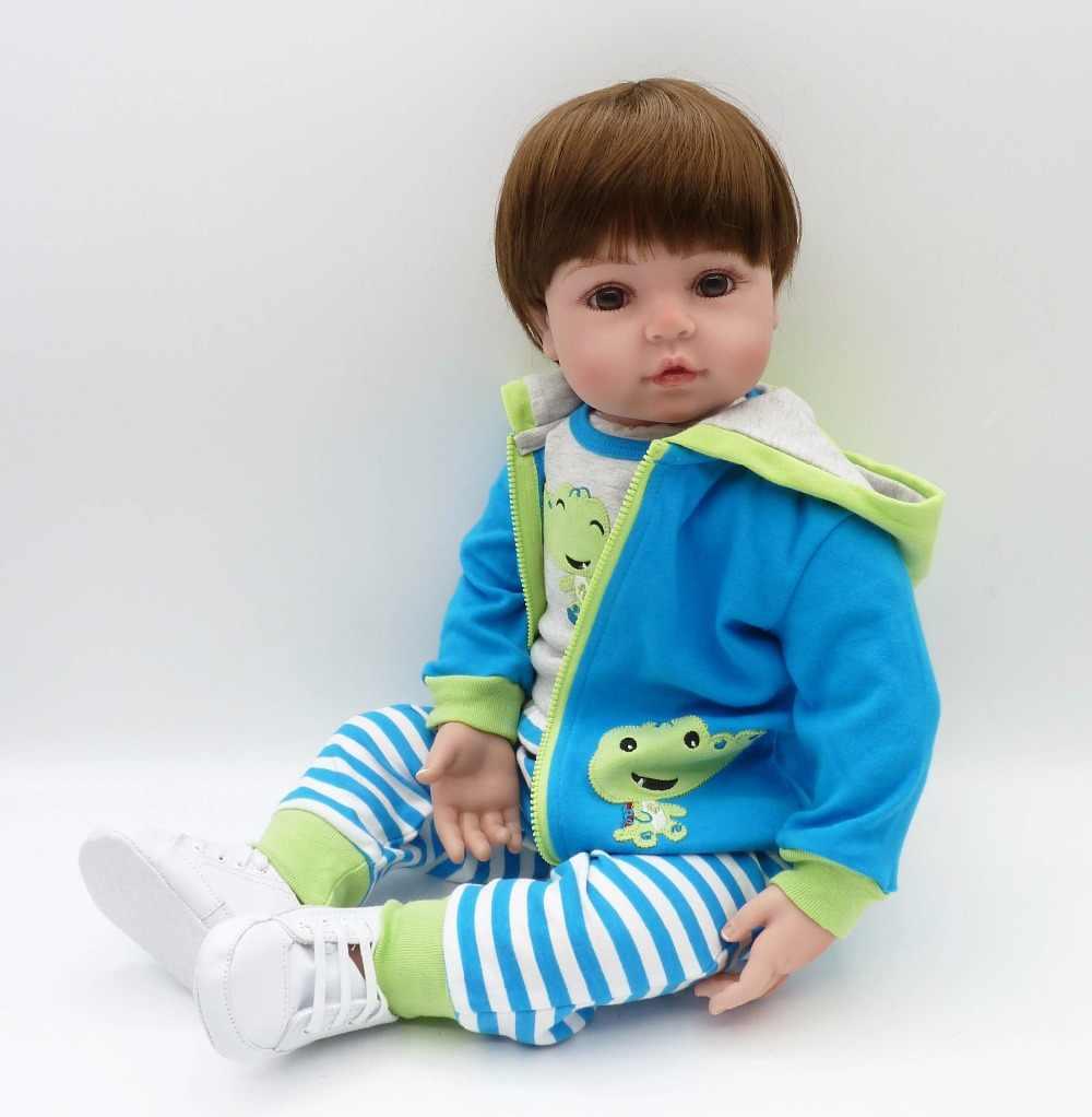 c9fc621ce3c1fa ... big size 60cm Silicone Reborn Dolls Toddler Vinyl Dolls Brinquedos Boutique  Gift Handmade PP Cotton Body