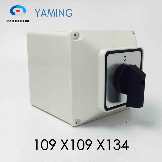 Yaming electric YMW26 63/4M Changeover cam switch 63A 4 poles 3 position with waterproof enclosure interruptores electricos
