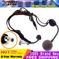 10Pcs Mini XLR 3 Pin Connector Headworn Dynamic Microphone Headset Mic For WH20TQG Karaoke Wireless System Bodypack Transmitter