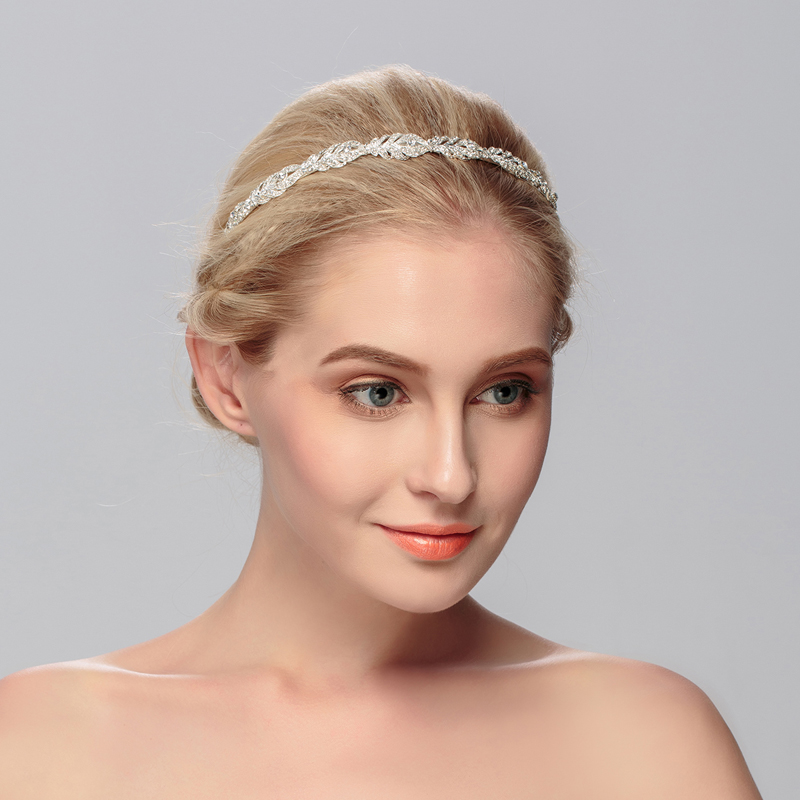 Bride Wedding Accessories Women Prom Bridal Jewelry Headpiece Bride Hairband Flower Girl Headbands For Women Bridesmaid