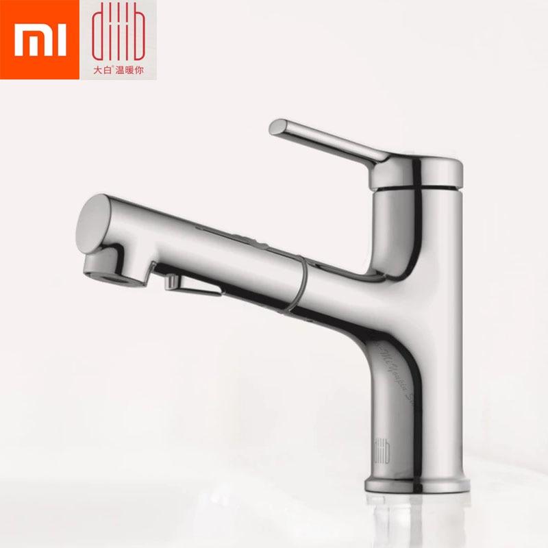 Original Xiaomi Mijia dabai Bathroom Basin Faucet With Pull Down Sprayer 2 Spray Mode Single Lever