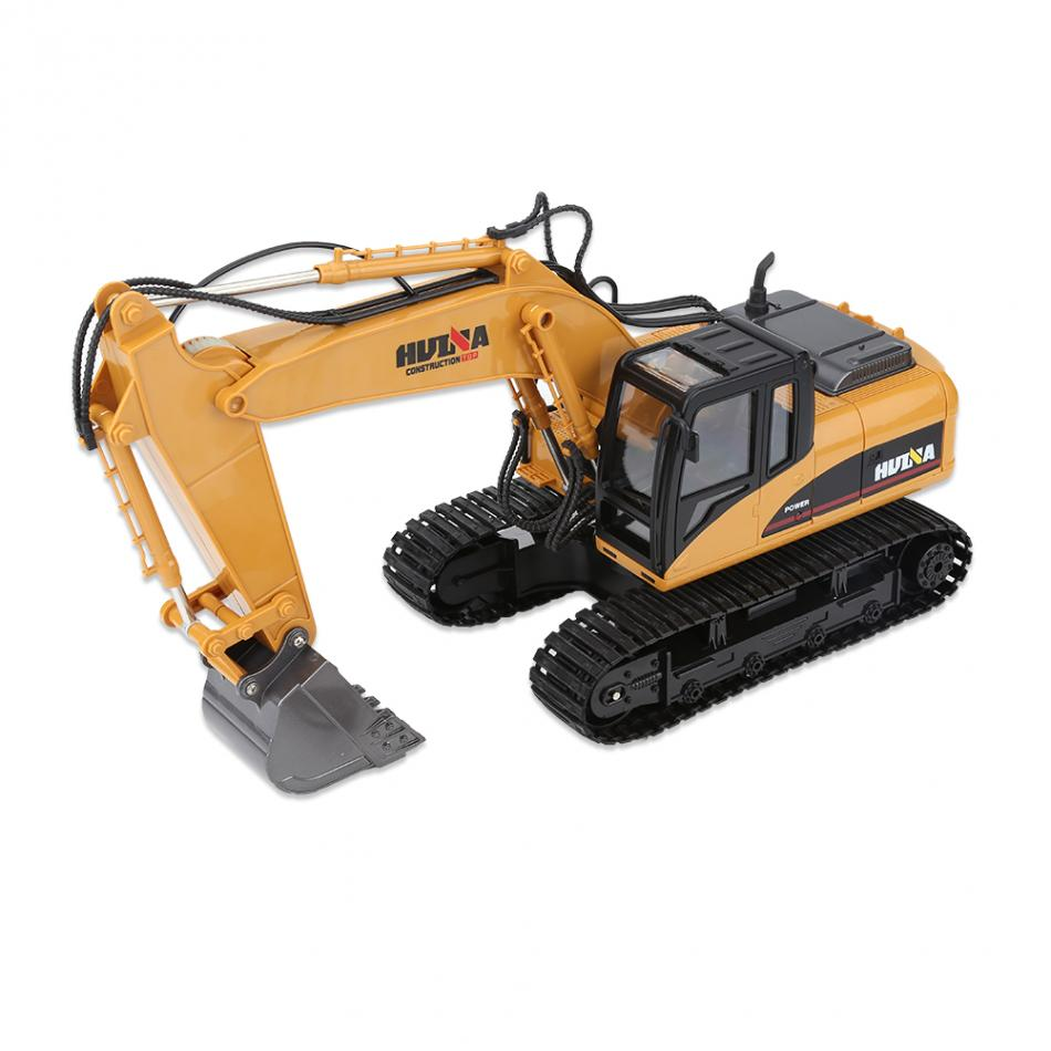 Rc Plastic Excavator with Battery 2.5GHz 15CH Remote Control Digger Car RC Boy's Toy Remote Control Toy Vehicle with USB Cable rc excavator 15ch 2 4g remote control constructing truck crawler digger model electronic engineering truck toy
