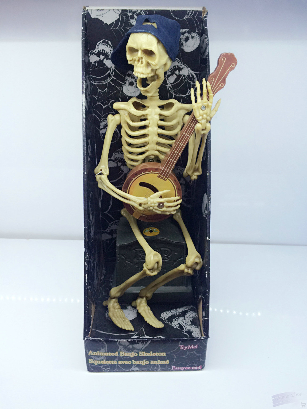 skeleton ghost play guitar with music halloween toy bar party kids ...