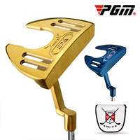 PGM Authentic Driver Golf Men's Club Blue/Gold Putter with Line of Sight Large Grip Send Putter Cap Cover Hitting Stability High