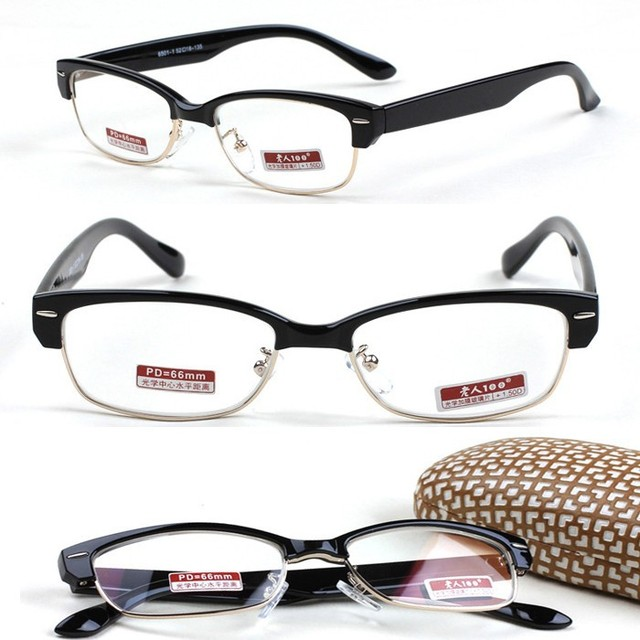 1e5bd7b65d BLACK NOBLE UPPER CLASS RETRO men women Frame Spectacles Custom Made prescription  lens myopia glasses Photochromic