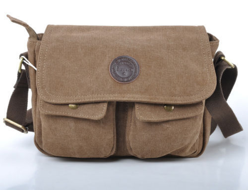 Aliexpress.com : Buy Men Vintage Style Canvas Leather Satchel ...