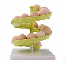 Creaive slide shape kitchen Food storage box Egg rack holder Container Carrier Case fashion healthy kitchen tools free shipping