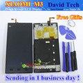 Alta Qualidade da Tela de Toque de Vidro E LCD conjunto do Visor Digitalizador tp para xiaomi mi3 m3 telefone inteligente com quadro livre grátis