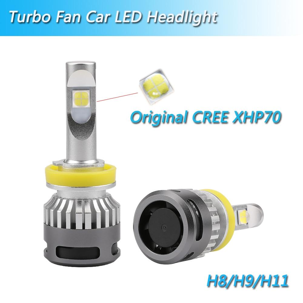 Inlong com samsung csp mini h4 led h7 12000lm h1 h11 lâmpada led h8 h9 9005 hb3 9006 hb4 carro farol lâmpadas 6000 k luzes de nevoeiro 12 v - 6