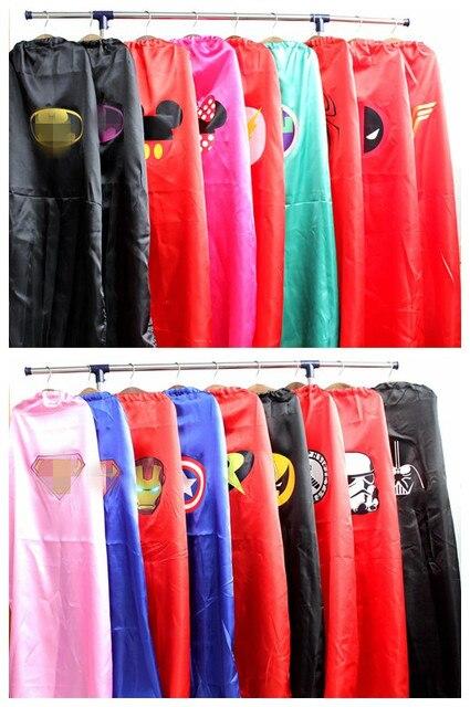 adult cape 1 cape+1 mask superhero  capes costumes  batman spiderman superman women cosplay costume accessories party carnival