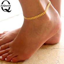 2017 New Women Gold Ankle Chain Barefoot Arrow Silver Anklet Bracelet Foot Jewelry Sandal Beach For Female