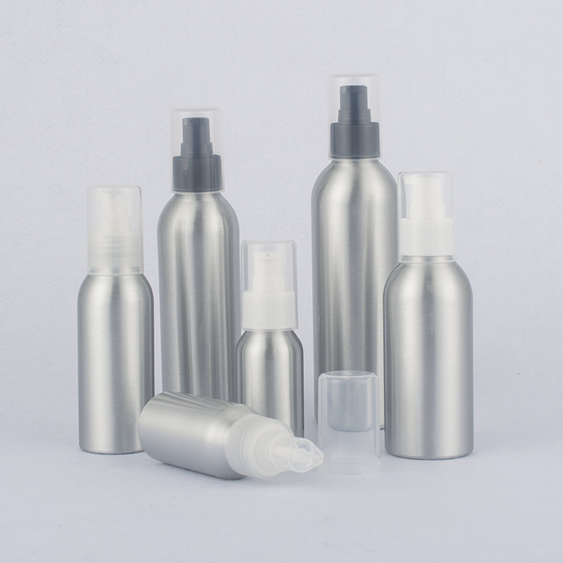 40-250ml Aluminum Emulsion Bottle,Metal Bottle For Cosmetics With Emulsion Pump