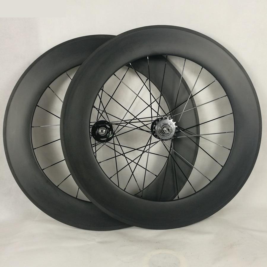 Roue de bicyclette tubulaire de voie et de champ de la roue 88 MM de voie de pignon fixe de carbone