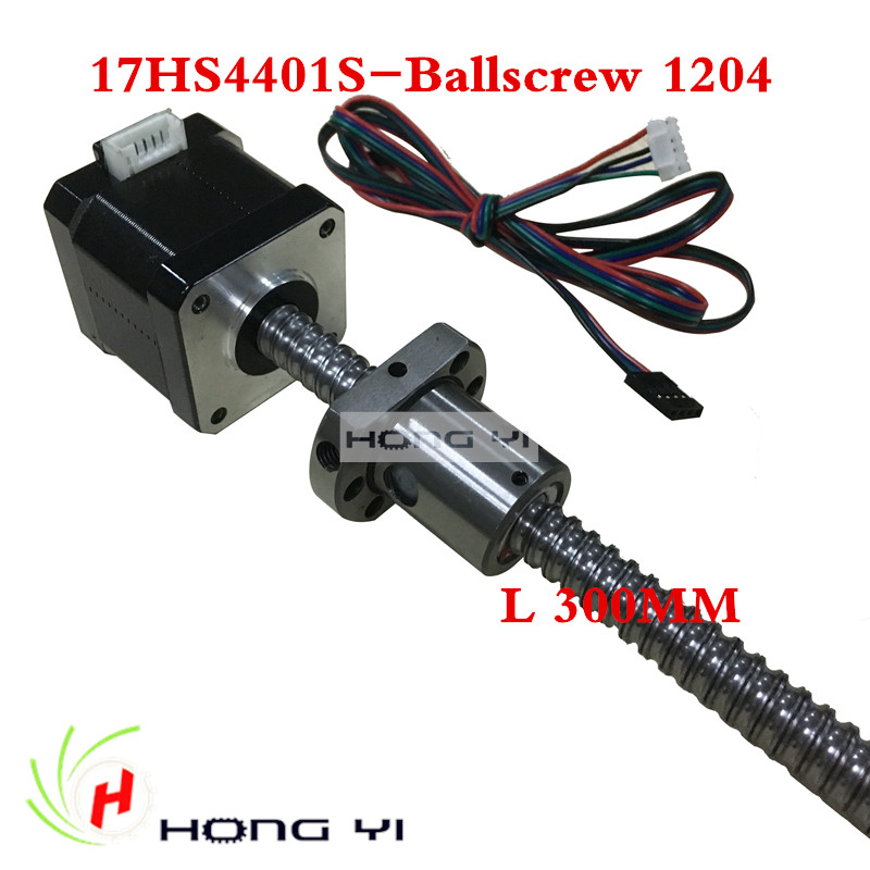 Nema17 ball screw Stepper Motor 42 motor 42BYGH 1.7A motor ball screw SFU1204 L300MM for CNC 3D printer 4-lead anet 3d printer screw linear 2 phases stepper motor