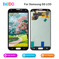 20Pcs Wholesale For Samsung Galaxy S5 i9600 SM G900 G900 LCD Display 100% Tested Touch Digitizer Screen Assembly Replacement