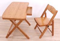 70*41 см бамбук складной обучения стол со стулом исследования письменный стол детский стол с ящиком