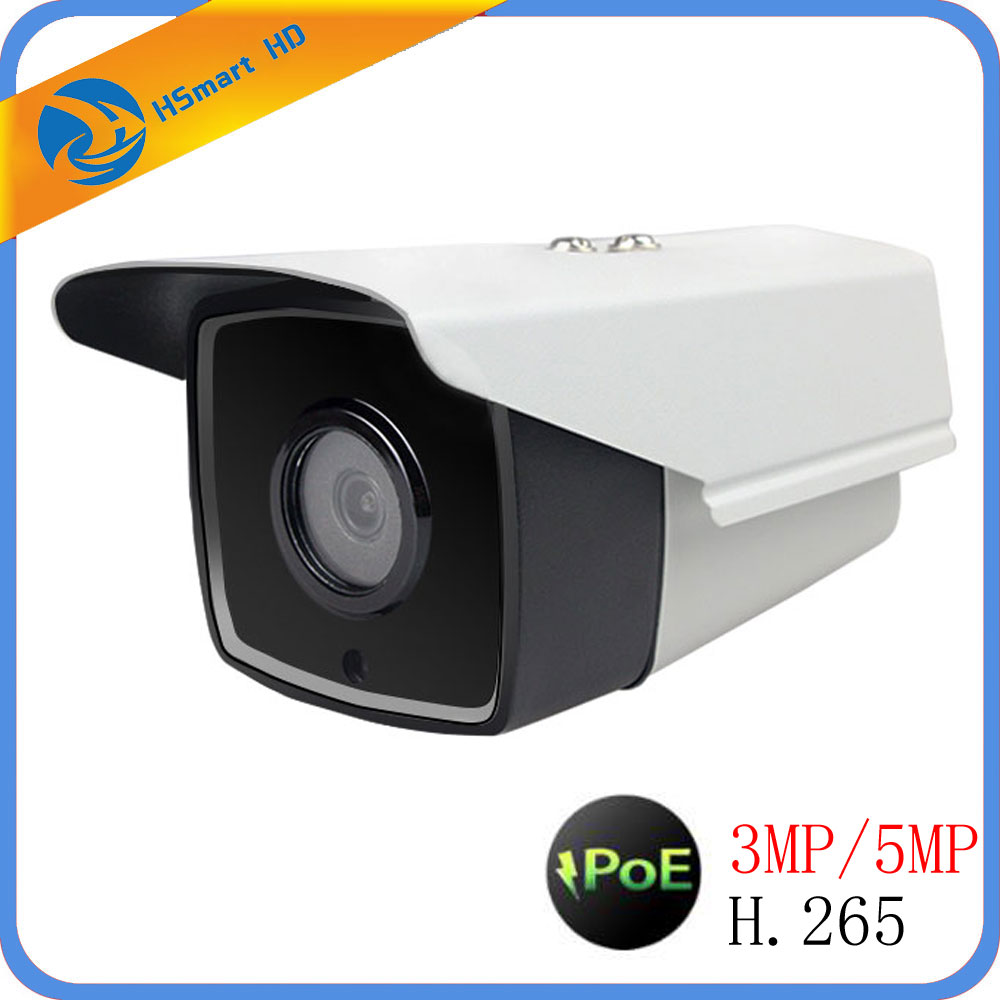 POE 5MP IP H 265 Network P2P Onvif CCTV Outdoor Security 4IR Night Vision Waterproof Bullet
