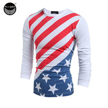 Men T-Shirt 2016 Men'S Fashion European Style Trends T Shirt Long Sleeve T Shirt Men Leisure Slim Men T-Shirt Tees&Tops XXL VF