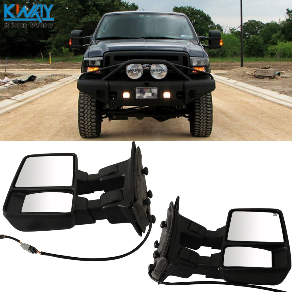 Fit For 2003 2004 2005 2006 2007 F250 Side View Towing Mirror Power 2002 Ford F 250 Super Duty Wiring Diagram Mirrors King Way 03 07 F350 F450