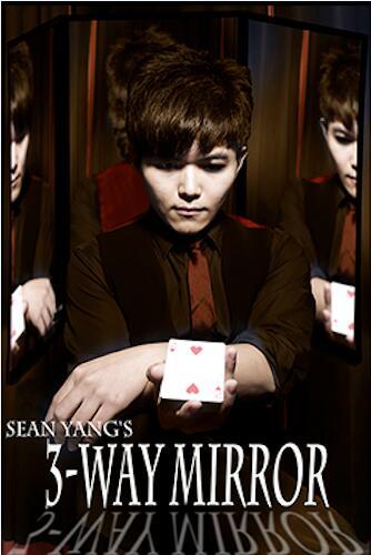 Miroir à 3 voies par Sean Yang miroir de pratique pour carte magique Gimmick Illusions astuces accessoires scène jouets de magicien professionnel