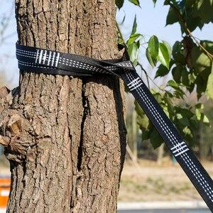 Image 5 - حزام أرجوحة قوي للغاية ، حزام أرجوحة معلق من Acehmks للتخييم والسفر ، حبل شجرة معلق محمول 300X2.5 سم 440g