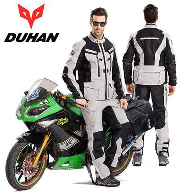 18811ae5e02 US $246.45 40% OFF|DUHAN 201 one set Motorcycle Riding Suits windproof  waterproof Moto Jersey Motocroos Racing Jaqueta Riding jacket and pants-in  ...