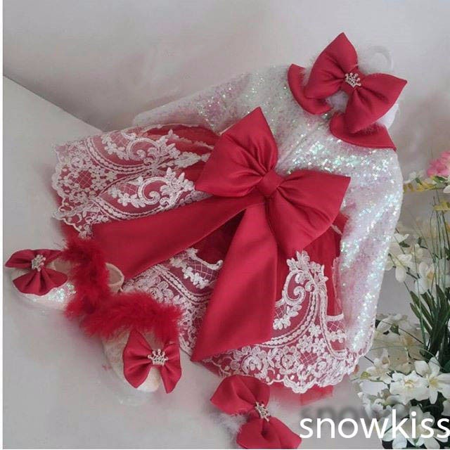Cute Long Sleeve White Lace Red flower girl dresses with Bow baby Birthday Party Dress toddler girl pageant dress ball gowns 2017 long sleeves flower girl dresses with violet bow lace baby birthday party dress ball gowns toddler princess pageant dresses