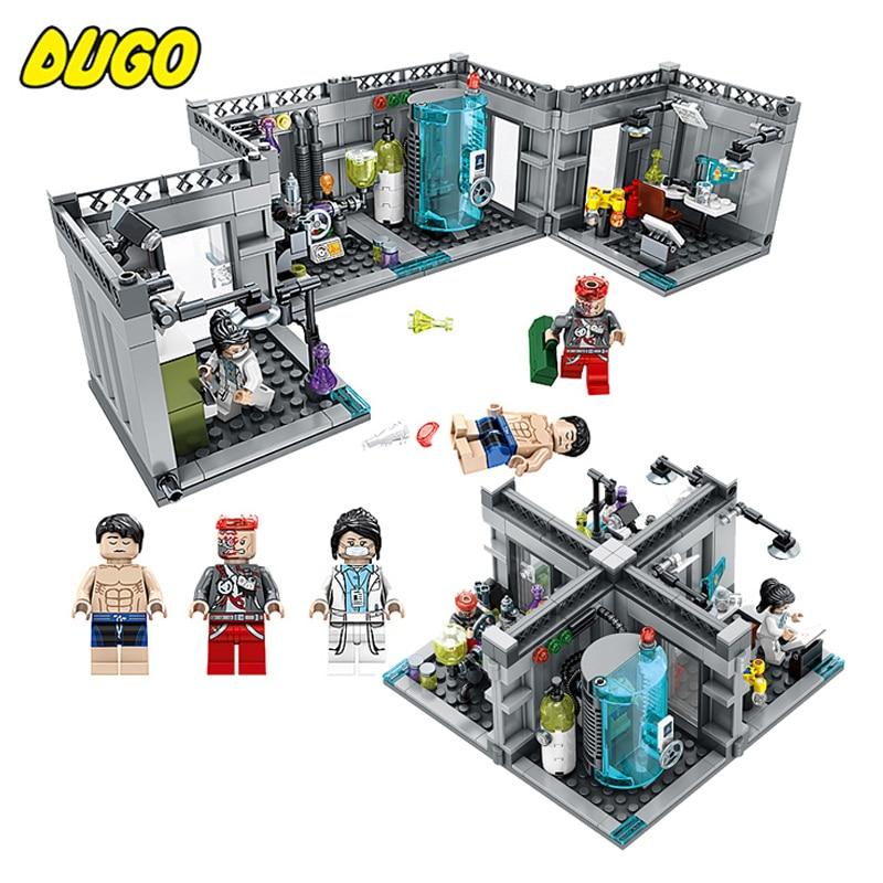 367pcs Super Secret Police Biochemical Lab Building Blocks Compatible Legoed Technic Figures Enlighten Bricks Toys For Children