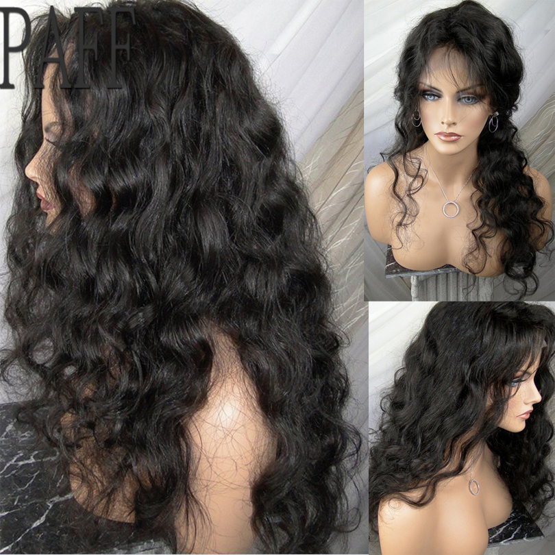 PAFF Loose Wave Lace Front Human Hair Wig Glueless Virgin Hair Brazilian 8-30inch Side Part Wig With Natural Hairline Baby Hair