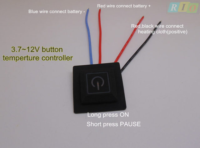 3.7V~12V Electrically-heated clothing Temperature Switch Temperature Controller Electric Heating Belt Control Switch Adjustable