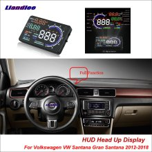 Liandlee Car HUD Head Up Display For Volkswagen VW Santana Gran 2012-2018 Safe Driving Screen OBD Projector Windshield
