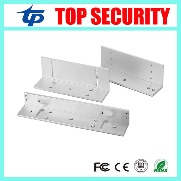 180KG ZL bracket for 180KG Magnetic lock 350LBS EM lock Z bracket and L bracket for narrow door em lock install access control x6 rfid door entry system 180kg magnetic lock and u bracket for glass door
