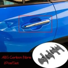 ABS Chrome/Carbon Fibre For Toyota RAV4 2019 Accessories Car Door Protector Handle Bowl Cover Trim Sticker Car Styling 4pcs abs chrome carbon fibre for toyota rav4 2019 accessories car door protector handle bowl cover trim sticker car styling 4pcs