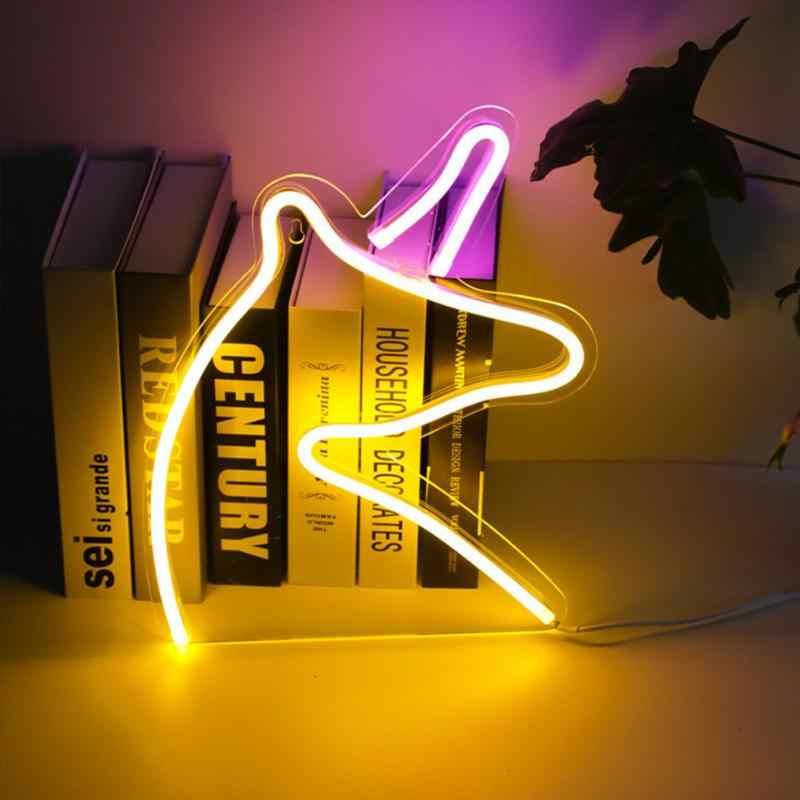 Luz de neón de Casa LED luces de Panel de letrero de neón para fiestas de Navidad tienda de pared de hogar Decoración de neón 12 lámpara de neón colorida amor, hola