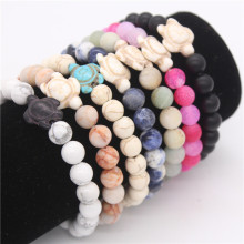Poshfeel Turtle Bracelets & Bangles 8Mm Natural Stone Bead Bracelet For Women And Men Handmade Jewelry Mbr170442