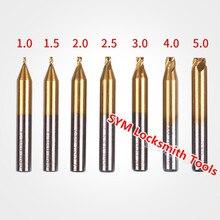 Слесарные принадлежности HSS Фреза для DEFU вертикальный автомат для резки ключа машины, 1,0/1,2/1,5/2,0/2,5/3,0/4,0/5,0 мм сверла