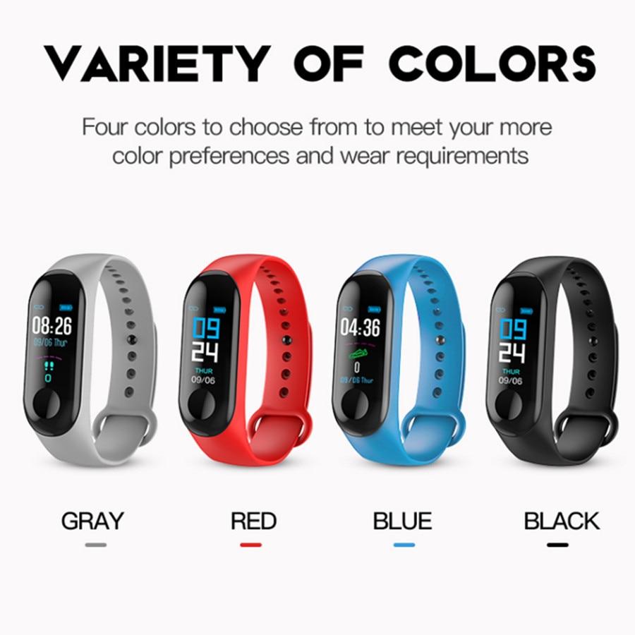LYKRY M3 115plus 116plus Smart Bracelet Sport Watch Fitness Tracker Color Display Smart Watch Men Women Heart Rate Blood Pressur