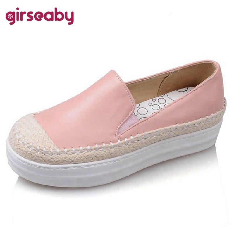 Schuhe Das Beste Frauen Der Damen Flache Keil Espadrille Rom Tie Up Sandalen Plattform Sommer Schuhe Zapatos De Hombre #3